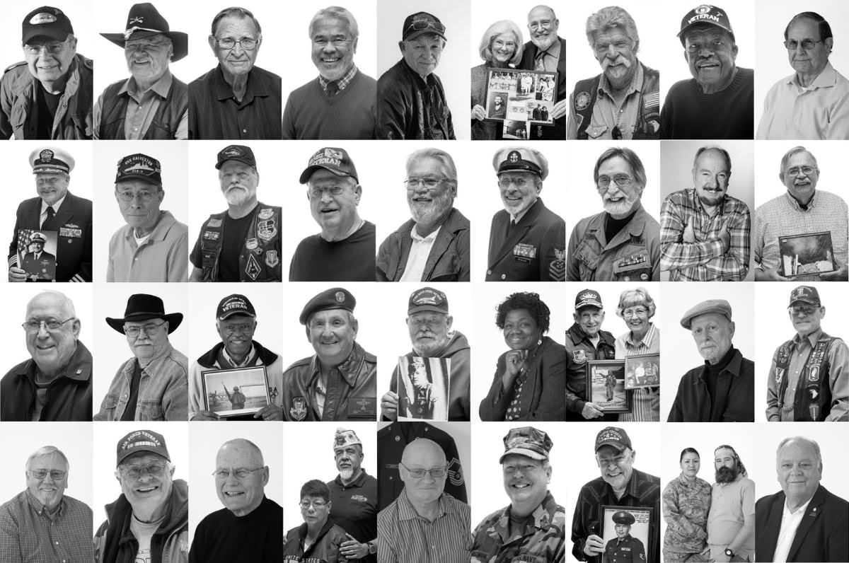 Collage of photos of veterans