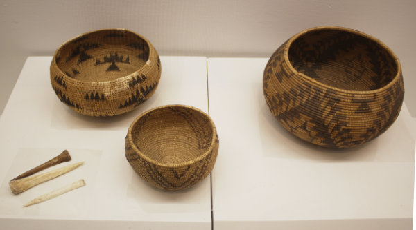 Three Maidu Baskets