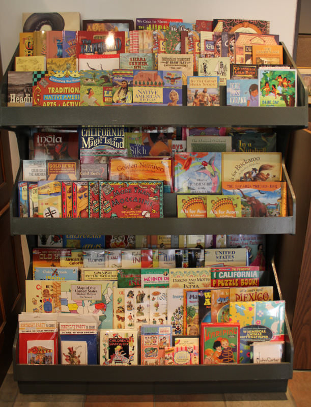 Children's books in display