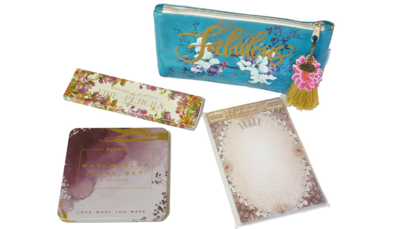 Clutch, Watercolors and Notepad by Papaya!